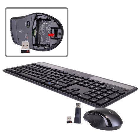 Solar Powered Keyboard by Logitech Wireless Solar Powered Keyboard Laser Mouse