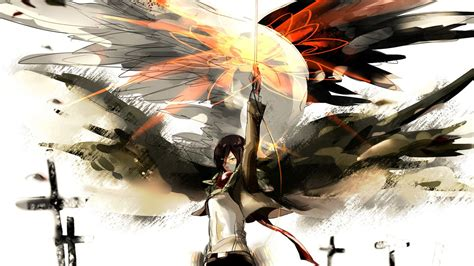 anime attack on titan 35 mikasa ackerman wallpapers hd download