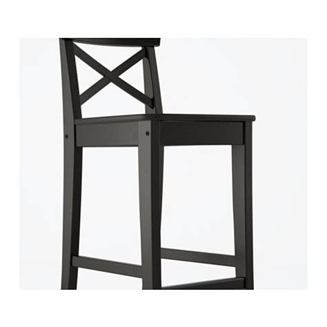 ingolf bar stool with backrest ingolf bar stool with backrest brown black 74 cm ikea