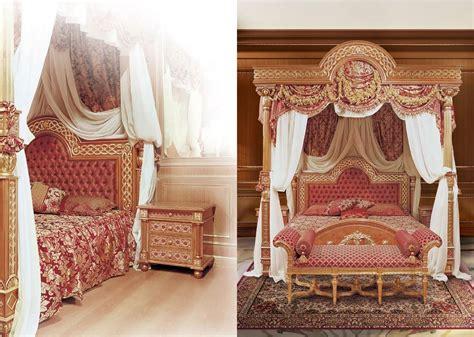 letti con baldacchino letto lussuoso con baldacchino in legno massello