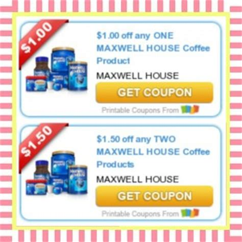 maxwell house coffee coupons hot printable maxwell house coupons print now 183