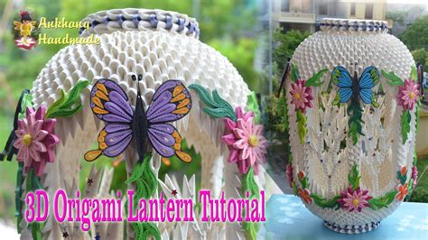 How To Make An Origami Lantern - how to make 3d origami lantern diy paper lantern