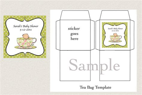 tea bag template diy printable tea bag cover template by gigimariestationery