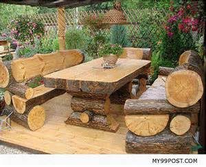 Rustic Patio Furniture Sets 10 Gorgeously Rustic Log Tables You Ll Want For Your Cabin Grid World