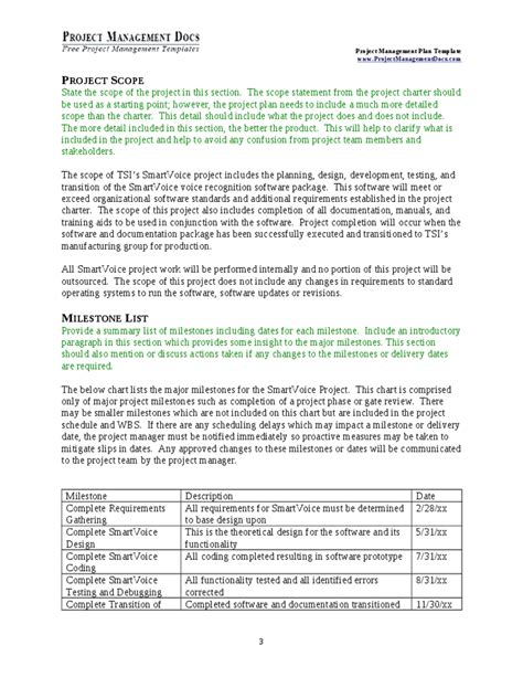 project management plan template project management plan hashdoc