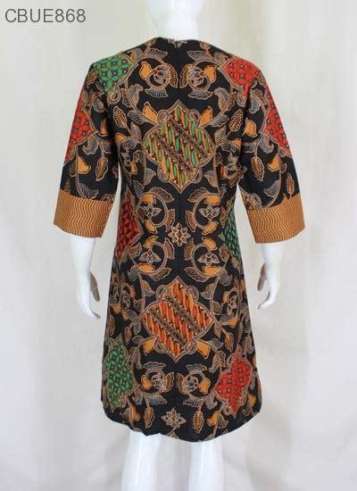 Dress Batik Coklat Motif tunik dress batik blarak coklat 9029 dress murah