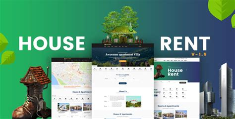 wordpress themes rent house houserent multi concept rental wordpress theme