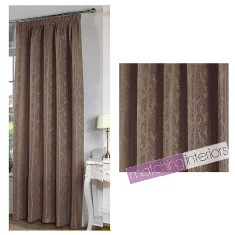 90 by 90 curtains in cm mocha paisley floral print ready made pencil pleat fully