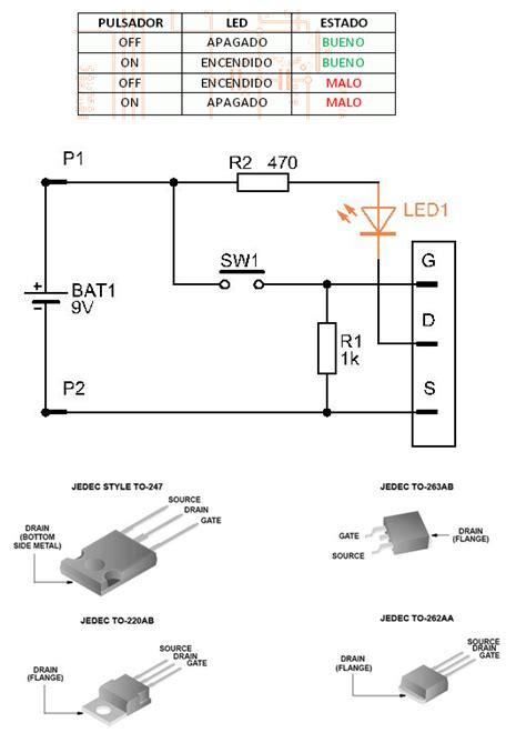 transistor fet como resistencia como probar transistor mosfet y si hacerlo conectado yoreparo