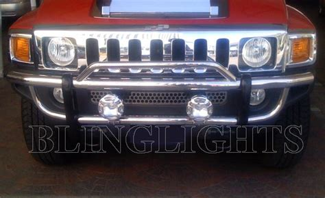 hummer h2 driving lights hummer h2 l bar auxilliary road driving lights kit