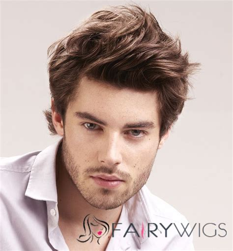 mens one inch hair 6 inch brown full lace 100 indian remy hair mens wigs