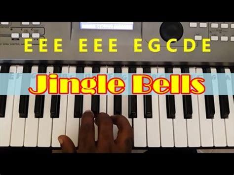 tutorial playing keyboard how to play jingle bells easy piano keyboard tutorial