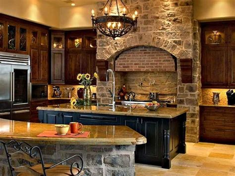 stone kitchen design old world kitchen ideas with traditional design home