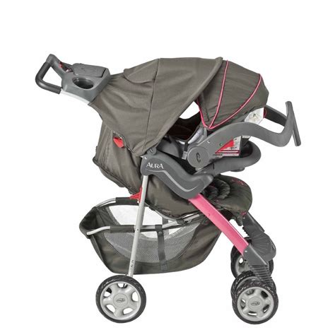 and black infant car seat and stroller evenflo aura travel car seat stroller system pink alhambra