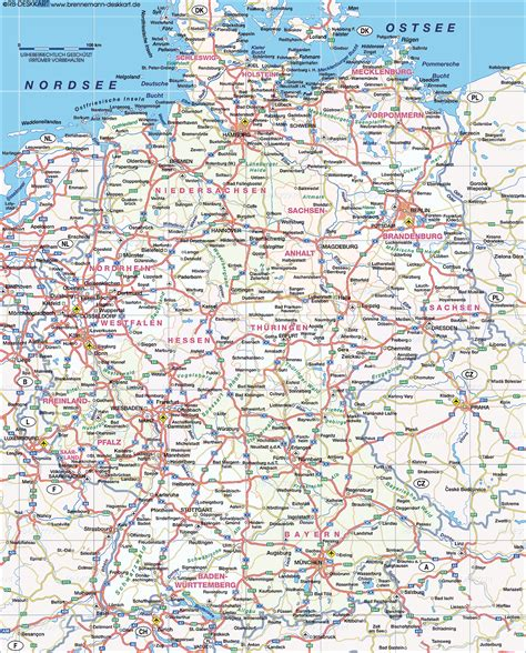 autobahn map germany where is the autobahn in germany map