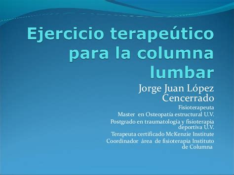 la columna de la 8416771952 ejercicio terape 250 tico para la columna lumbar umh 2013