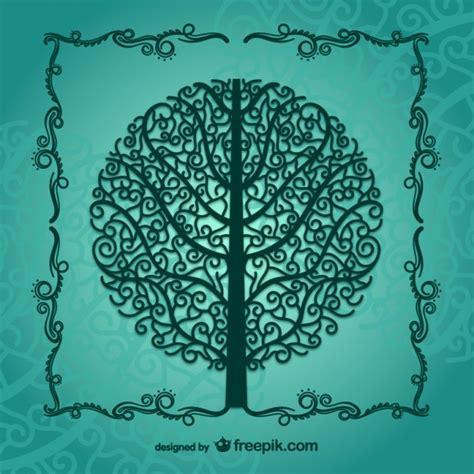 vintage tree vintage tree silhouette vector free