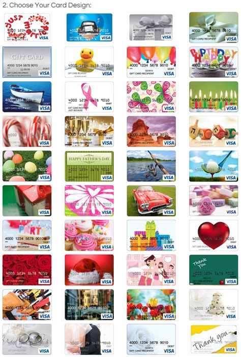 Wellsfargo Gift Cards - all visa gift card designs