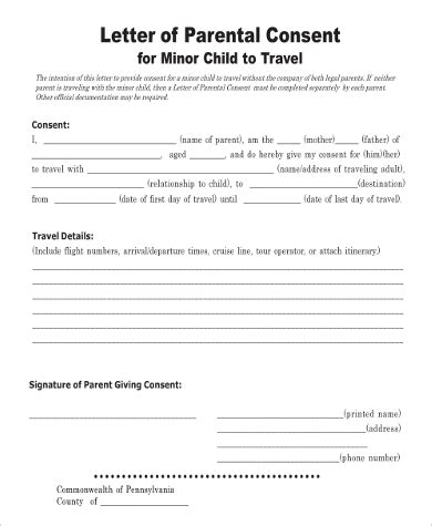 5 Sle Child Travel Consent Forms Pdf Free Child Travel Consent Form Template Pdf
