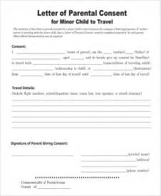 Authorization Letter For Child Travel Mexico sample child travel consent form 5 examples in word pdf
