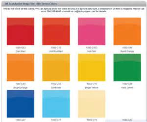 Click on the color chart above to see all available colors