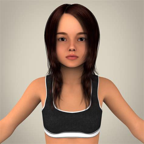 3d girls realistic child girl 3d model in cinema 4d c4d 3d