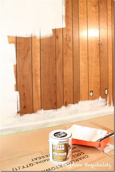 how to paint over wood paneling house renovation week 12 paint that paneling people