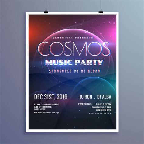 promotion party invitation cosmos mod 232 le musique party flyer 233 v 233 nement dans le style