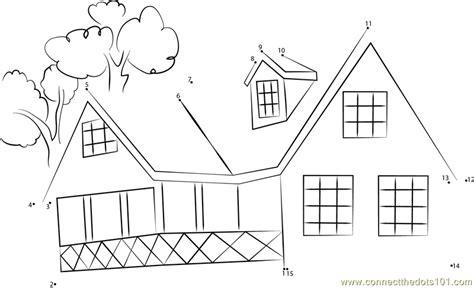 printable dot to dot house house in mangrooves assam dot to dot printable worksheet