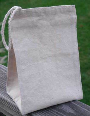 Cotton Lunch Bag printed recycled cotton canvas lunch bag ecobags