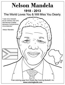 coloring books nelson mandela free online coloring page