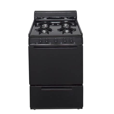 24 gas range shop premier freestanding 2 9 cu ft gas range black