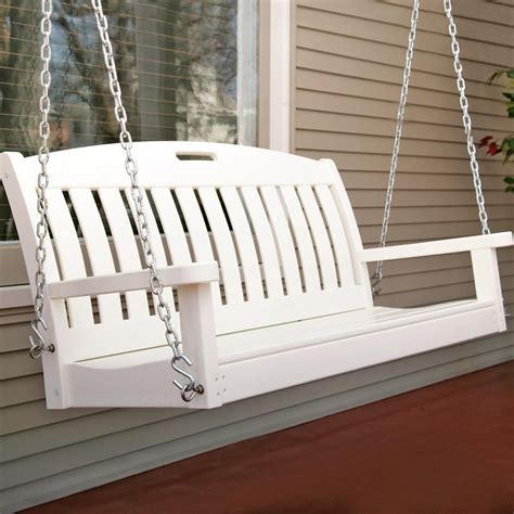 polywood nautical  ft recycled plastic porch swing