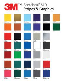 3m vinyl color chart 3m scotchcal pictures to pin on pinsdaddy