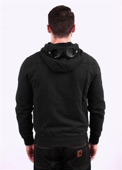 cp company zip hoody black