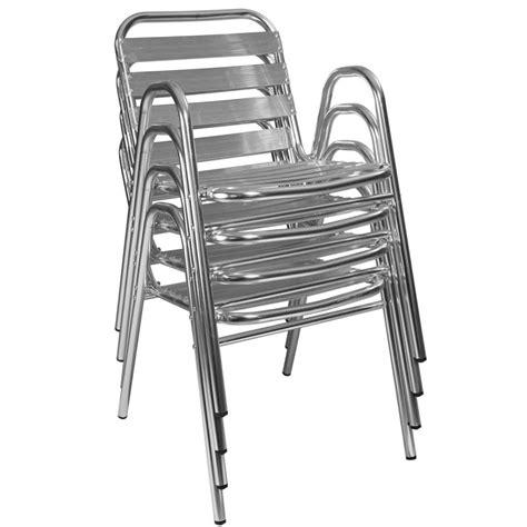 Attractive Salon De Jardin Resine Structure Alu #10: Chaise-de-jardin-en-aluminium-empilable.jpg
