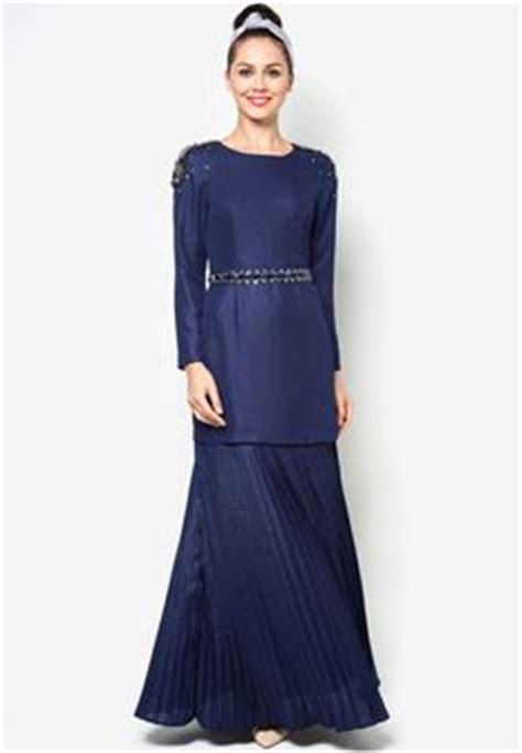 Baju Kurung Pahang Navy Blue muslim s dresses and fashion on