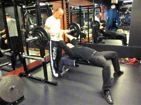 one arm barbell bench press bench press 190 pounds barbell one arm easy youtube