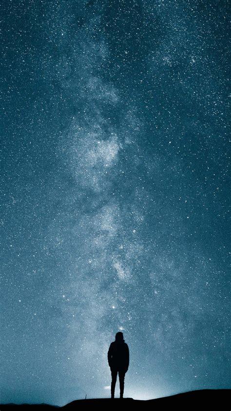 wallpaper milky  stars  space