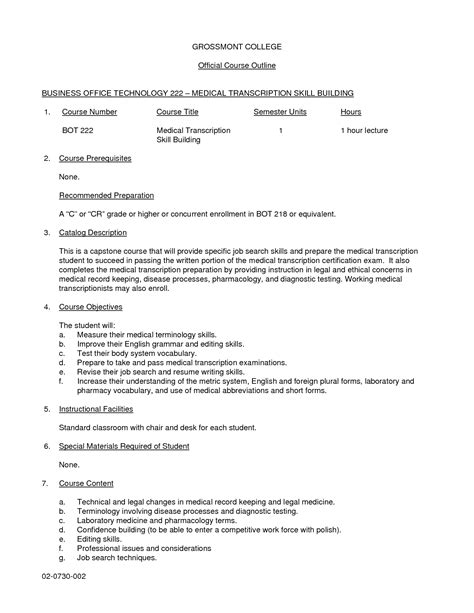transcription cover letter exles of resumes chicago style essay sle with