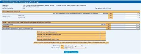 pagos del programa primer paso 2016 pago del impuesto a la renta de personas naturales en