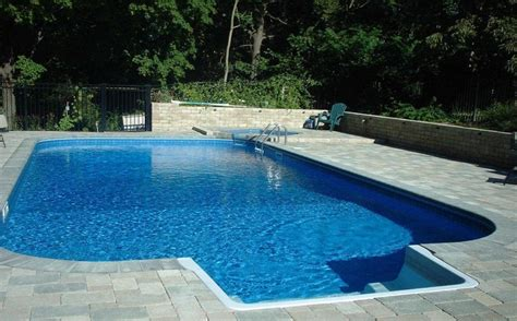 Pool Backyard Designs Wondeful Moden Style Concrete Inground Swimming Pool Designs