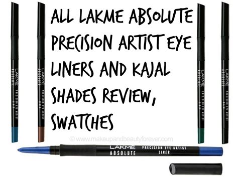 Lakme Absolute Precision Eye Artist Kajal Eyeliner Black all lakme absolute precision artist eye liners kajal shades review swatches