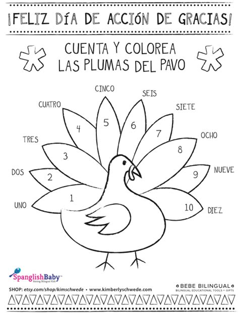 thanksgiving coloring page in spanish spanish thanksgiving coloring sheet spanglishbaby