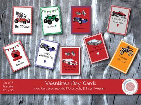 digital s day cards race cars motorcycle four