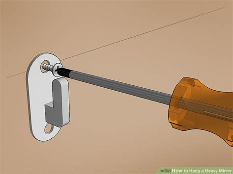 hang a picture how to hang a heavy mirror fountain how to hang a heavy mirror with pictures wikihow