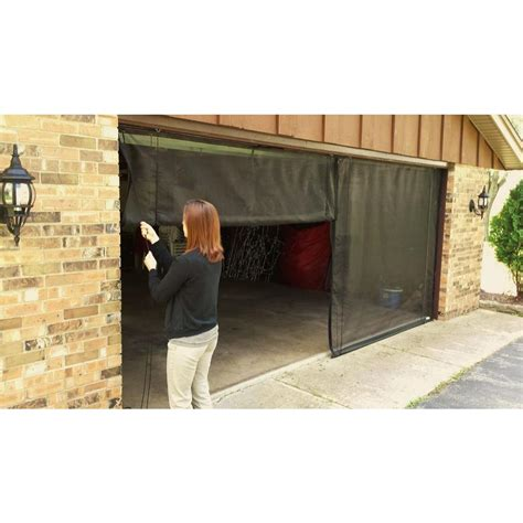 8 Foot Garage Door by Fresh Air Screens 9 Ft X 8 Ft 3 Zipper Garage Door