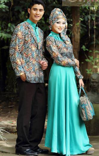 gambar desain baju batik elegan 5 gambar model baju muslim batik pesta modern elegan