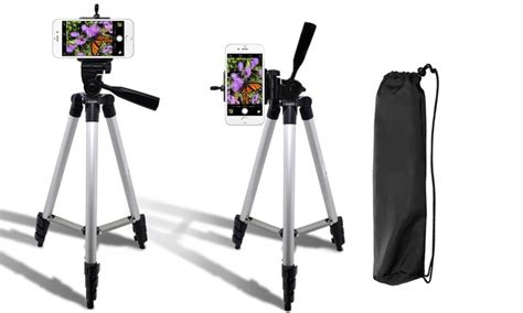 Promo Universal Mini Tripod Stand For Smartphone Np 71o B 50 quot tripod and smartphone mount groupon goods