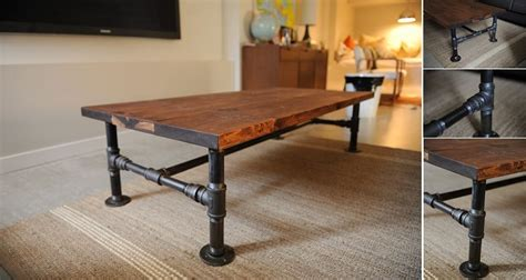 diy industrial coffee table home design garden
